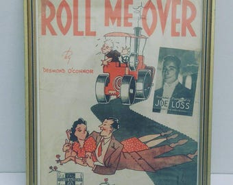 Roll Me Over (1944). Recycled Sheet Music Art/ Print (FREE POSTAGE)