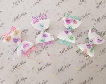 Candy Hearts MINI bow