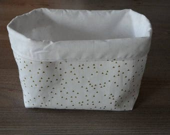 Gold and white theme storage basket