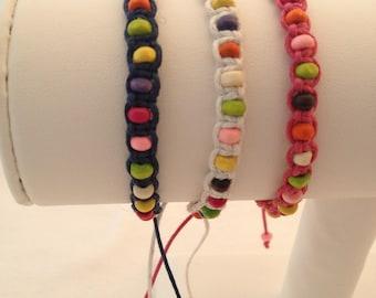 Cotton adjustable macrame Friendship Bracelet