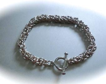 Chain Maille Byzantine Bracelet