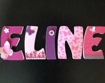 Order custom medium ELINE 10 cm wooden letters