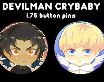 Devilman Crybaby: Akira and Ryo button pins