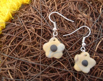 FLORAL BROWN FLOWER COLLECTION EARRINGS