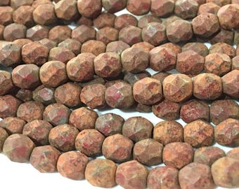 x 15 PCs Czech matte 6mm czech beads