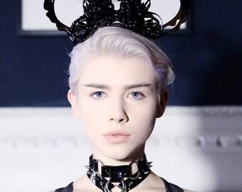 Noir Valeria Choker - Black pvc choker - plastic necklace
