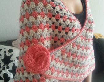 100% handmade cotton shawl