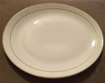Vintage Homer Laughlin China - Gold Trimmed Platter