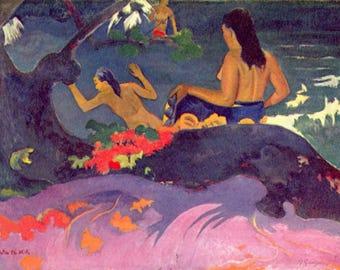 SET of TABLE ORIGINAL semi-rigid AESTHETIC WASHABLE and durable - Paul Gauguin - Fatāta Te Miti bis.