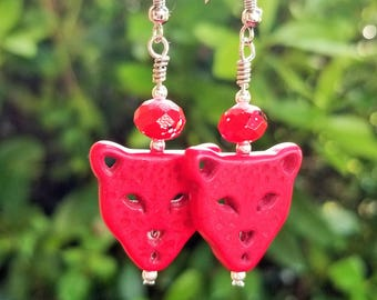Red Lion Earrings