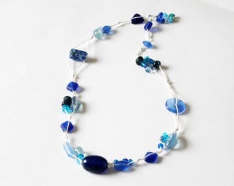 """Necklace shade of blue """"3 constellations"""""""