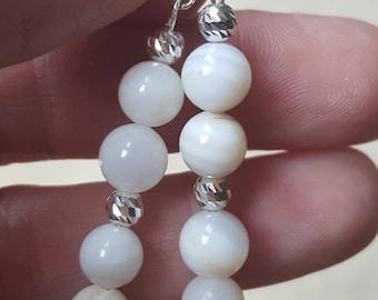 Mother of Pearl, Wedding Jewellery, Pearl Jewellery, Pearl Earrings, Pearl Jewelry, Bridal Jewellery, Drop Earrings, Elegant Earrings, Gift.