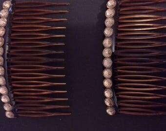 Beaded hair combs
