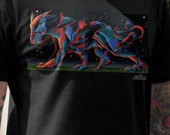 "Men's T-Shirt ""Dragon Walks the Earth"" Artwork by Todd Powelson, Arteesty"
