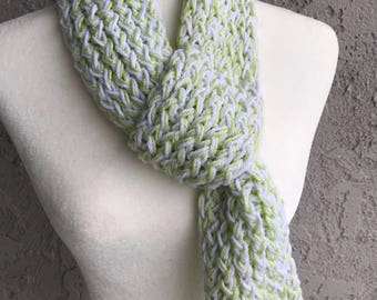 Handmade Knitted Scarf with loop Item #2001