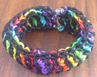 Hand made Herringbone Rainbow Loom