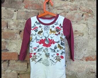Long sleeved T-shirt dress, size 92, UPCYCLED