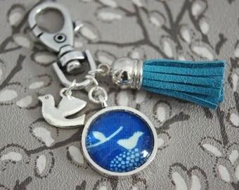 BLUE BIRD - PC005 BAG CHARM KEY RING