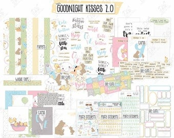 "SALE: Scrapbook Kit Baby ""Goodnight Kisses 2.0"""