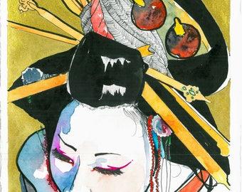 Serie Geisha kimono