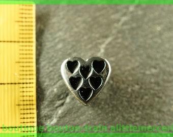 bead width heart N11 multi bracelet