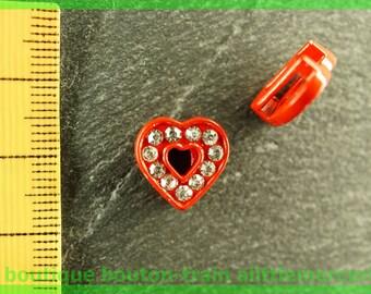 Pearl Heart busy N1 rhinestone bracelet