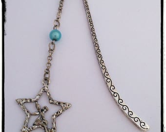 """Bookmark """"Blue Bead and silver fairy"""""""