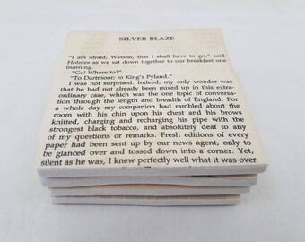 Sherlock tile coasters, Sherlock Holmes gift, Holmes and Watson, Ceramic Tile coaster, Literature gift, Sherlock home decor, detective gift