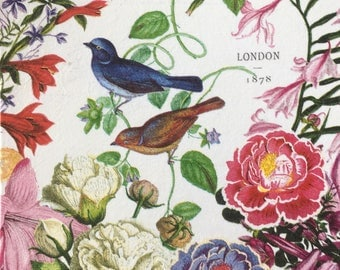 Beautiful Made to Order Vintage London Birds Decoupage Greeting Card for a Special Person or Occasion