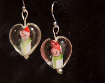 Valentine: Heart-Shaped Earrings