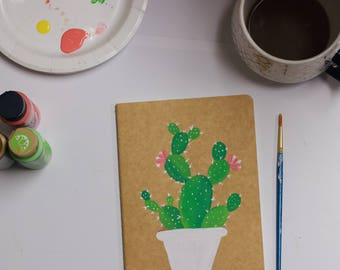 CACTUS NOTEBOOK --- Kraft notebook, journal, handmande journal, notebook