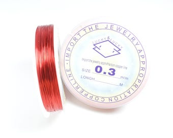 ~ 26 metre 0.3 mm red copper wire