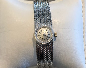 Vintage Zenith Womens 18kt White Gold Manual Winding Watch 3040040