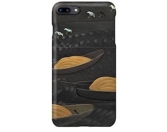 "iPhone case ""Shibata Zeshin :Boats and Plovers Makie""  iPhone5/5s/SE/6/6s/6Plus/6sPlus/7/7Plus/8/8Plus/X"