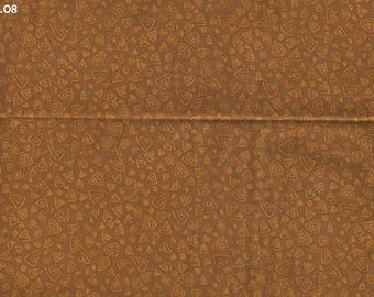 "Fabric K08 ""triangular spirals"" ochre Brown coupon amid 45x50cm"
