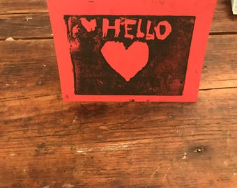 Hello Heart Greeting Cards