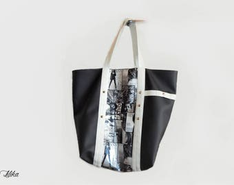 Faux leather - Magazine GM Tote