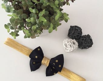 Gold headband and its the must have for the holiday bow
