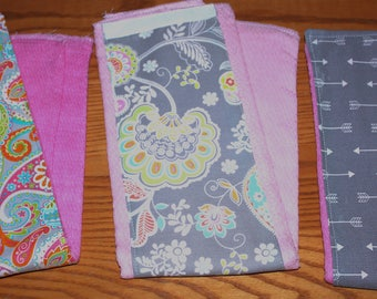 Set of 3 Homemade Burp Cloths