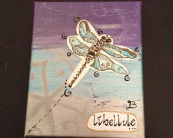 metallic Dragonfly painting