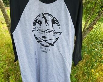 WeThriveOutdoors American Apparel Baseball-T (Tofino BC, Canada)
