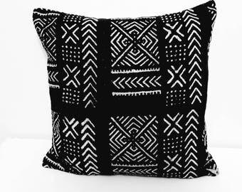 Handmade Mud Cloth Cushion Cover