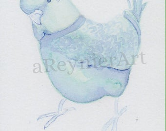 print, chubby little bird series (1/2) 10 X 15 cm
