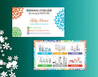 Rodan and Fields Business Cards, Fast Personalized, Rodan + Fields Independent Consultant, Modern Business Cards RF01