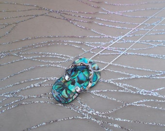 """Mother of Pearl pendant """"sandal"""""""
