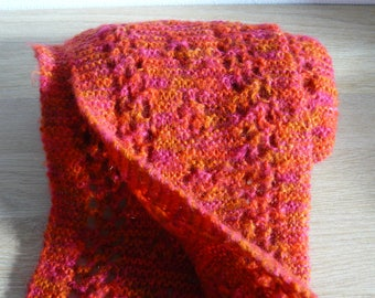 large hand knitted wool scarf