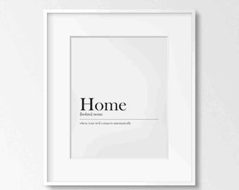Home Definition, Printable Art, Typography, 8x10, 4:5 Ratio, Modern Wall Art, Instant Download, Digital Print, Funny Quote