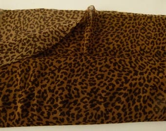 beautiful tulle slightly stretchy leopard in width