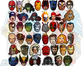 Marvel Super Heroes Embroidered Patches Comic Amazing Spiderman Iron Man Incredible Hulk X-men Avengers Thor Fantastic Four Daredevil Xavier