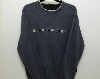 Rare!!! Gianni Valentino Sweatshirt Pullover Spellout Embroidered